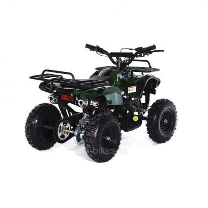 Квадроцикл детский бензиновый MOTAX ATV Х-16 Мини-Гризли с электростартером и пультом Зеленый- камуфляж (пульт, задний привод, до 45 км/ч)