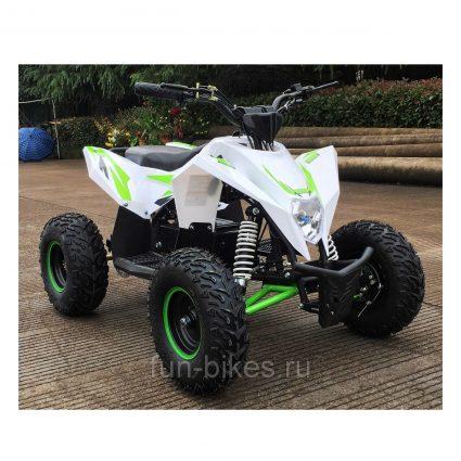 Детский квадроцикл бензиновый Motax GEKKON 70cc бело-зеленый (пульт контроля, до 45 км/ч)