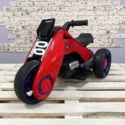 Электромотоцикл BMW Vision Next 100 Mini (трицикл) – BQD-6199 красный (широкие колеса, музыка, свет фар)